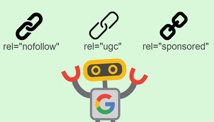 لینک های جدید گوگل را بیشتر بشناسید: لینک sponsored و لینک ugc